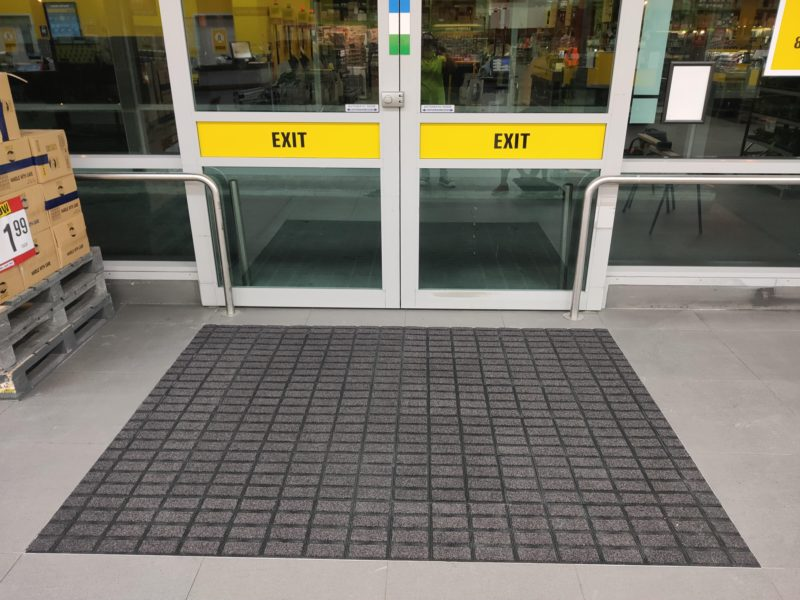 Axis Tiles in supermarket