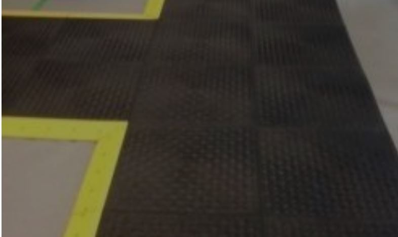 ESD Tiles with yellow edges