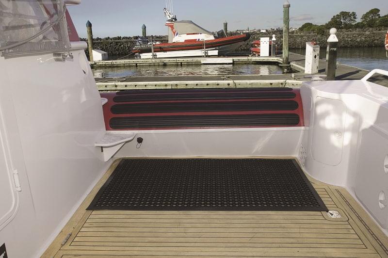 Boat using Safewalk Light junior hospitality anti-fatigue mat