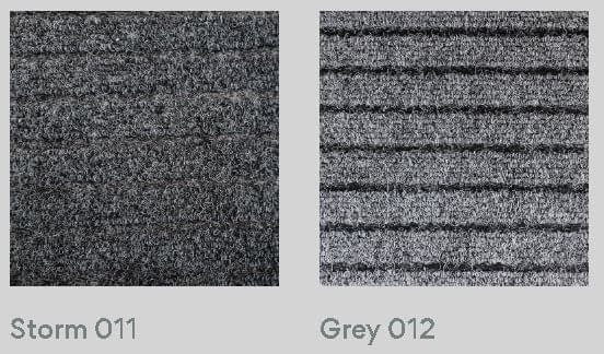 Broad Rib outdoor carpet colours Storm and Grey