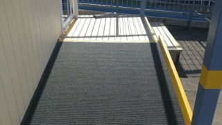Slim Rib outdoor carpet on ramp