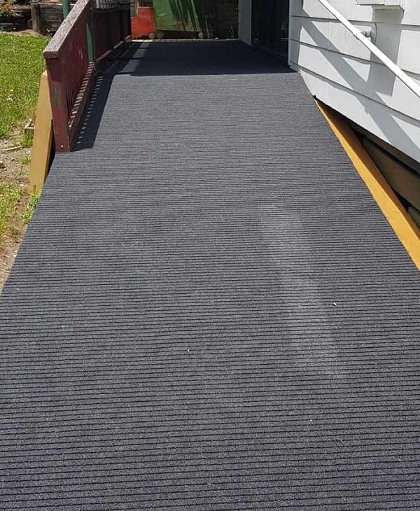 Broad Rib Outdoor Carpet used on ramp