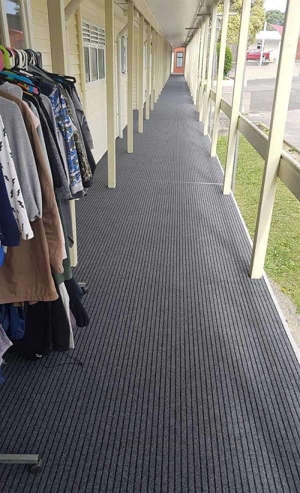 Broad Rib outdoor Carpet Widerib Storm Northcote Primary