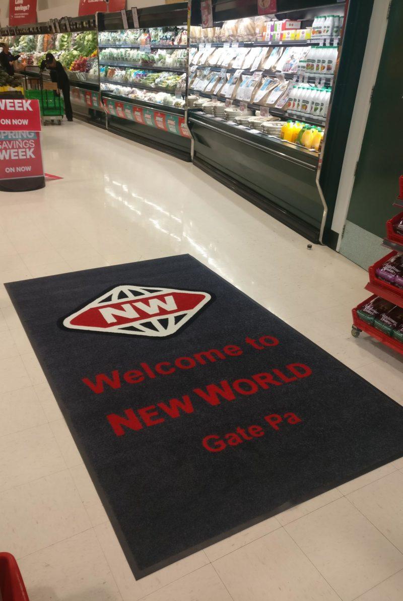 supermarket logo mat