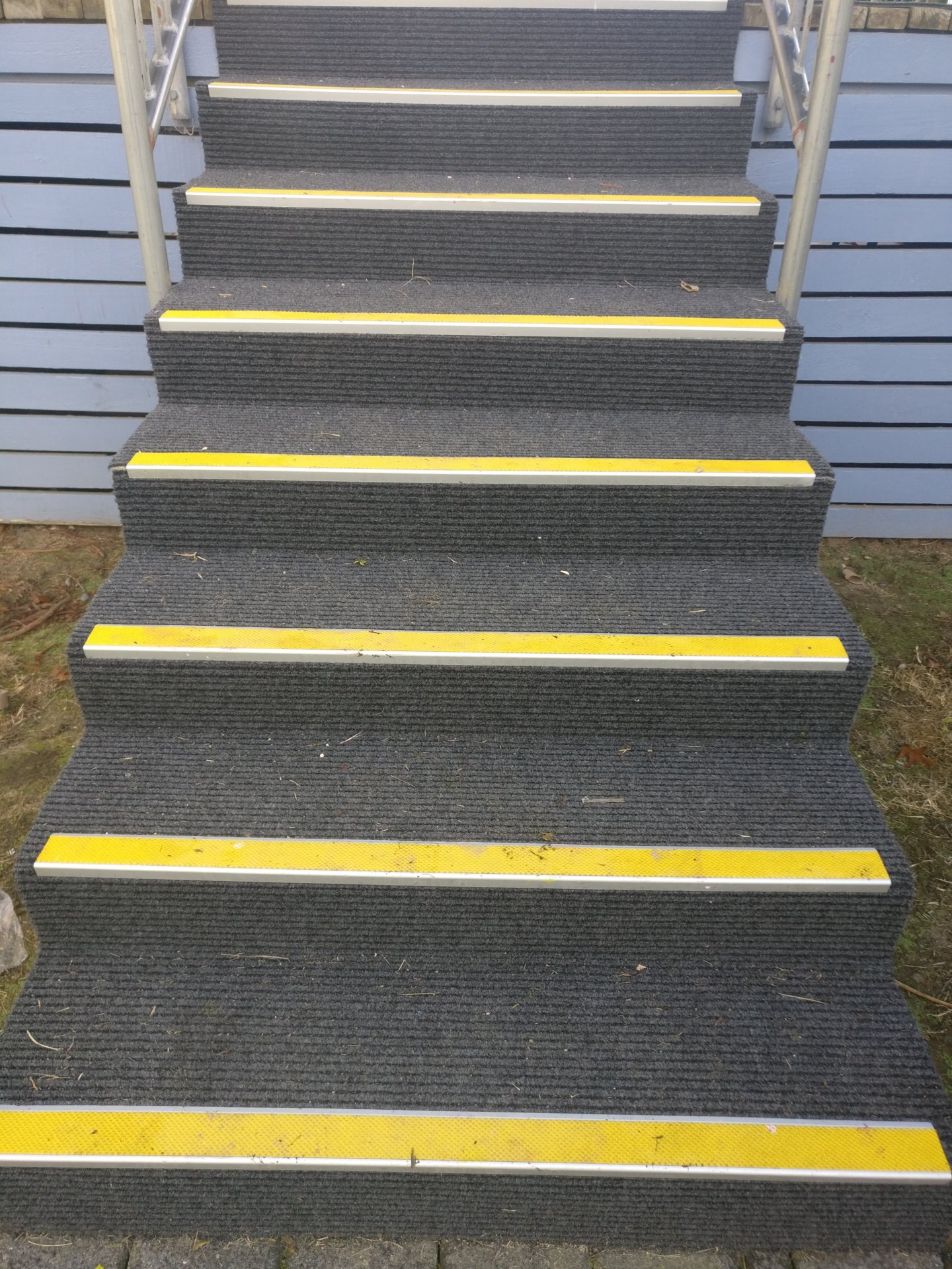 Stair case with Tred Safe 43mm insert nosings