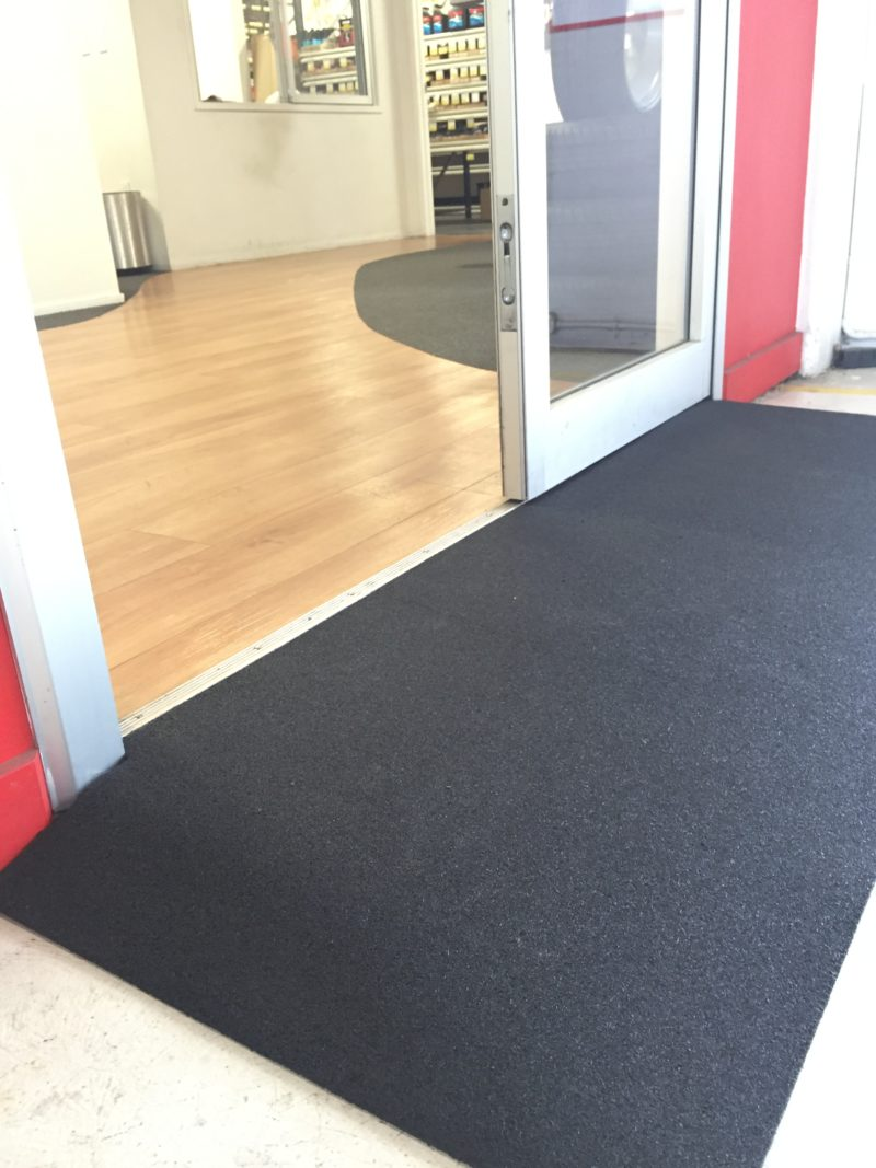 Doorway rubber ramp