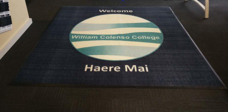 College outdoor mat