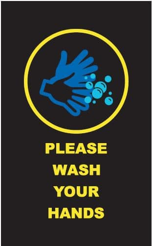 Message Mat Wash Your Hands