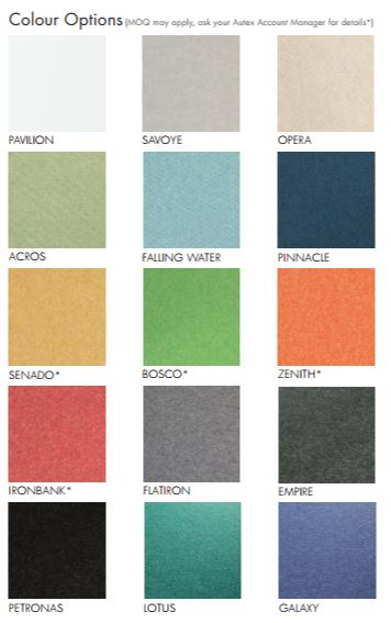 15 colour options