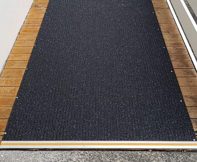 Ramp with anti-slip matting and DT028 Transition Bar