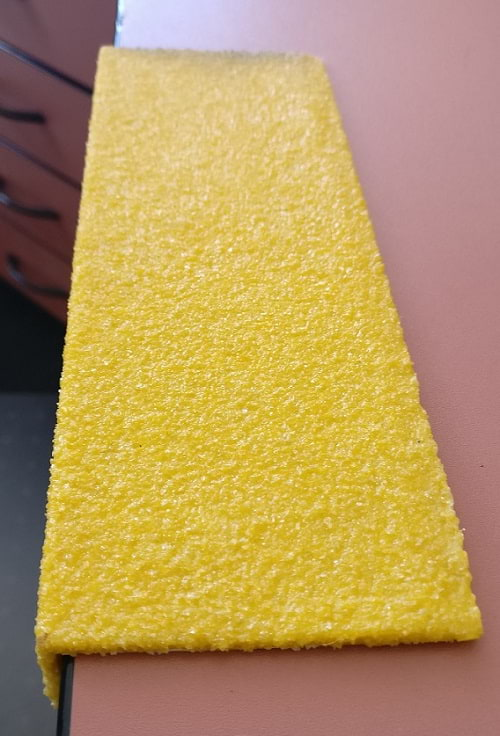 Fibreglass stair nosings. Yellow only. Set sizes only.