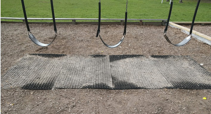 Safety Matting under Swings